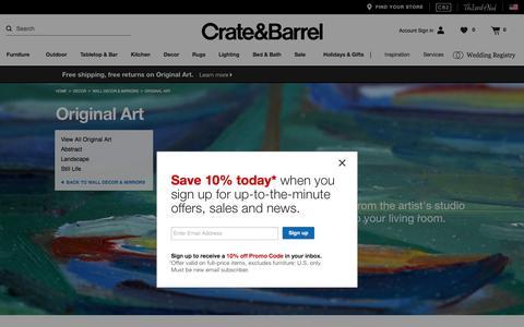 Original Art   Crate and Barrel
