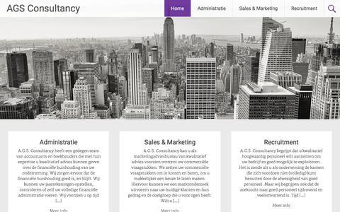 Screenshot of Home Page ags-consultancy.com - AGS Consultancy | Welkom op de website van AGS Consultancy - captured Dec. 22, 2015