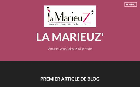 Screenshot of Blog wordpress.com - Blog – La Marieuz' - captured Feb. 3, 2018