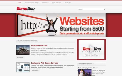 Screenshot of Home Page demouno.com - Atlanta Marketing | DEMO UNO - captured Oct. 5, 2014