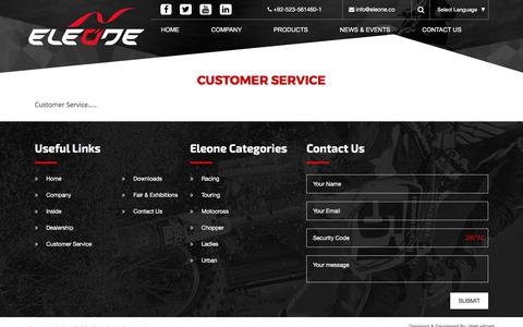 Screenshot of Support Page eleone.co - Customer Service | Eleone - captured July 10, 2017
