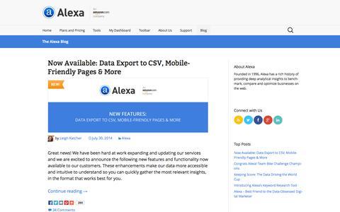 The Alexa Blog