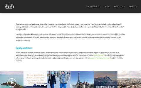 Academics - Abante International