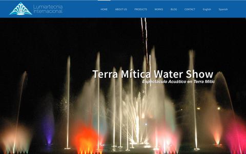 Screenshot of Home Page lumiartecnia.com - Lumiartecnia Internacional - captured Sept. 30, 2018