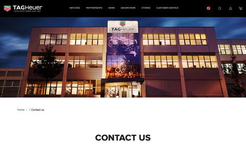 Screenshot of Contact Page tagheuer.com - Contact us | Tag Heuer - captured Sept. 24, 2018
