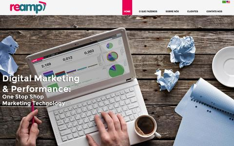 Screenshot of Home Page reamp.com.br - REAMP - Digital Marketing &  Performance - captured Feb. 21, 2016