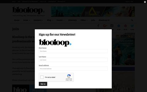 Screenshot of Signup Page blooloop.com - Join - blooloop - captured Aug. 2, 2018