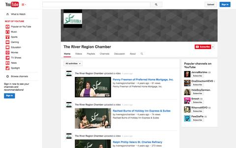 Screenshot of YouTube Page youtube.com - The River Region Chamber  - YouTube - captured Oct. 26, 2014