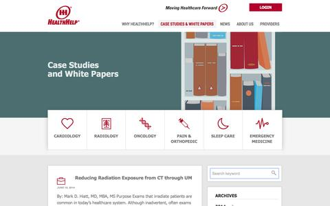 Screenshot of Case Studies Page healthhelp.com - Case Studies Archive - HealthHelp - captured Oct. 28, 2014