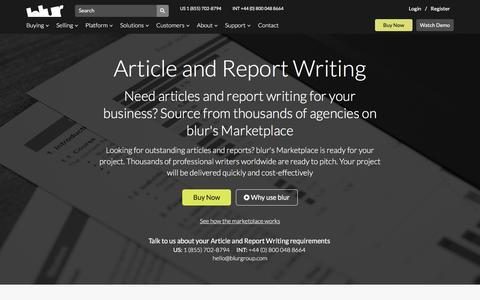 Article Copywriting Report Writing | blur Group