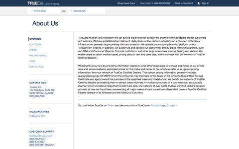 Screenshot of About Page truecar.com - About TrueCar, Automobile Price Reports - captured Oct. 10, 2014