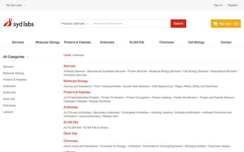 Screenshot of Site Map Page sydlabs.com - Site Map : Syd Labs - Speed up Your Discovery - Syd Labs - captured Dec. 6, 2016