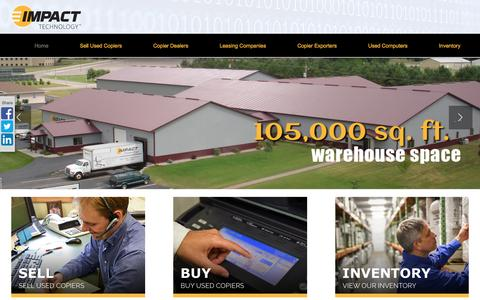Screenshot of Home Page itcopiers.com - Buy & Sell Used Copiers | Used Copier| Impact Technology - captured March 4, 2016
