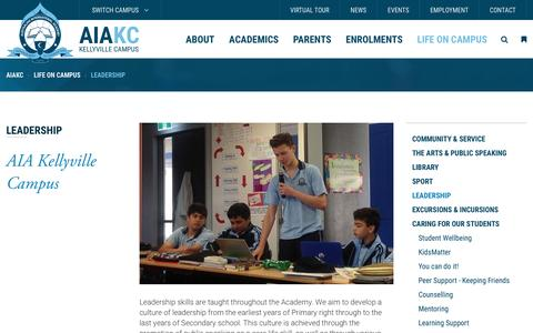 Screenshot of Team Page aia.nsw.edu.au - Leadership - AIA Kellyville Campus - captured March 25, 2017