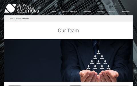 Screenshot of Team Page s3s.eu - Server Storage Solutions - captured Nov. 18, 2016