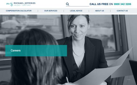 Screenshot of Jobs Page jefferies-solicitors.com - Personal Injury Solicitor Jobs | Lawyer Vacancies | Careers with Jefferies - captured Oct. 2, 2018