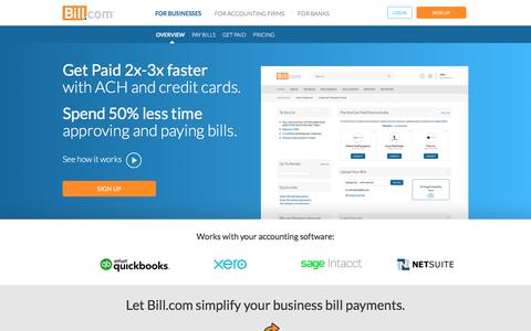 ACH Payments Processing - Online Processing Bill Payments Solution | Bill.com