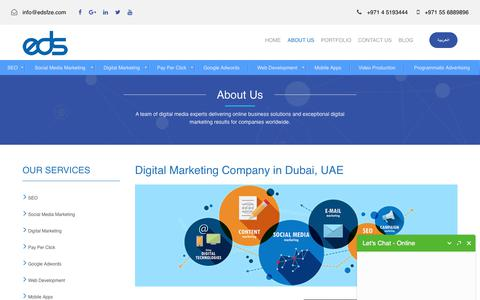 Online - Digital Marketing Company Profile Dubai, | SEO | About EDS FZE