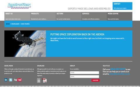 Screenshot of Press Page hydroflex.co.uk - Precision Bellows Manufacturer - Precision Tube Manufacturer   Hydroflex UK - captured Oct. 3, 2014
