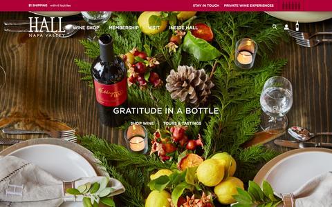 Screenshot of Home Page hallwines.com - Hall Wines - captured Nov. 5, 2015