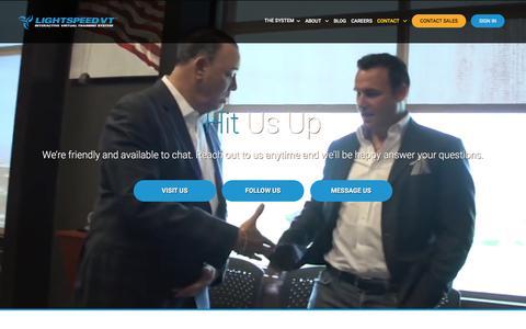 Screenshot of Contact Page lightspeedvt.com - Contact Us | LightSpeed VT Interactive Virtual Training System - captured July 19, 2018