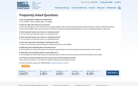 Frequently Asked Questions | Navy Federal Credit Union