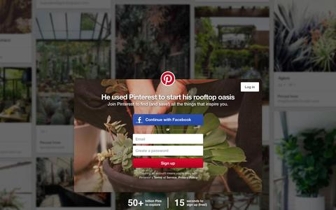Screenshot of Home Page pinterest.com - Pinterest: Discover and save creative ideas - captured Dec. 6, 2015
