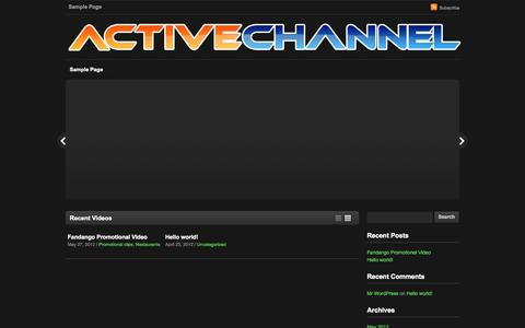 Screenshot of Home Page activechannel.tv - Active Channel — The site of Active Channel - captured Oct. 4, 2014