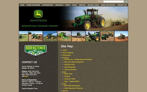 Screenshot of Site Map Page bodimp.com - Bodensteiner Implement Company - Sitemap - captured Nov. 3, 2014