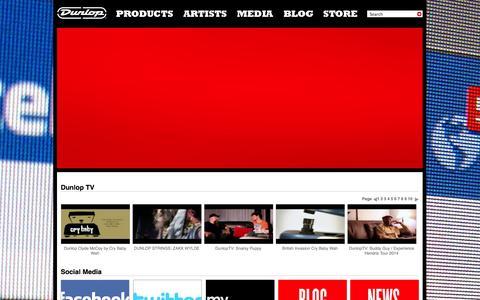 Screenshot of Press Page jimdunlop.com - Dunlop - captured Sept. 24, 2014