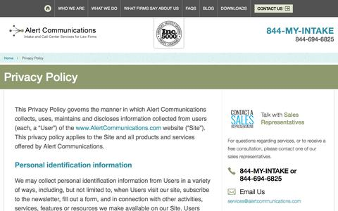 Privacy Policy | Alert Communications