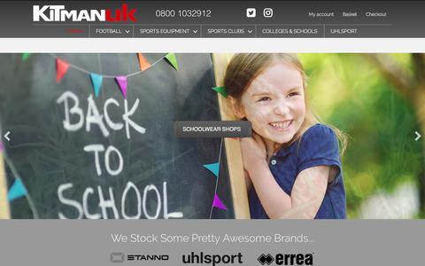 Screenshot of Home Page kitmanuk.co.uk - Home - Kit Man UK - captured Sept. 20, 2018