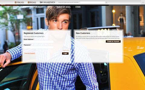 Screenshot of Login Page akselparis.com - Customer Login - captured Sept. 13, 2014