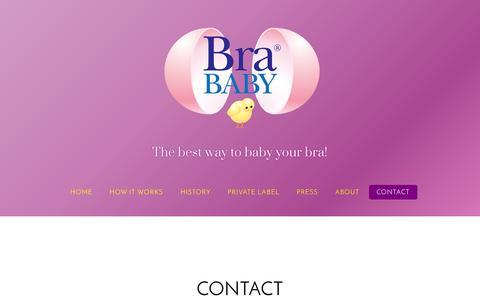 Screenshot of Contact Page brababy.com - Contact - captured Oct. 5, 2014