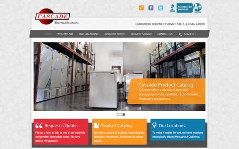 Screenshot of Home Page cascade-ts.com - Cascade Thermal Solutions - captured Jan. 26, 2016