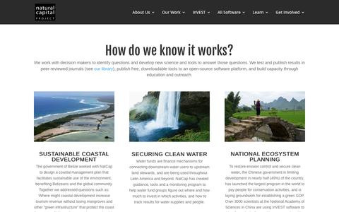 Screenshot of Press Page naturalcapitalproject.org - » How does it work? - captured Dec. 11, 2016