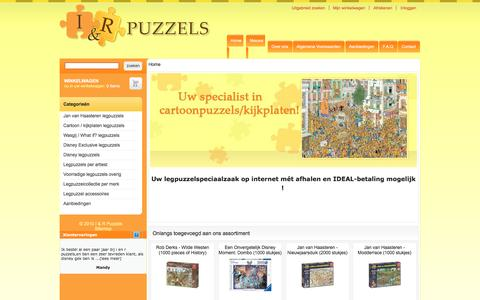 Screenshot of Home Page ienrpuzzels.nl - I & R Puzzels - captured Nov. 17, 2016