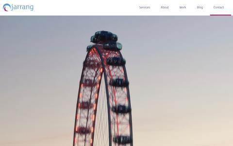 Screenshot of Contact Page jarrang.com - Contact   Digital Marketing Agency   Jarrang - captured Oct. 29, 2014