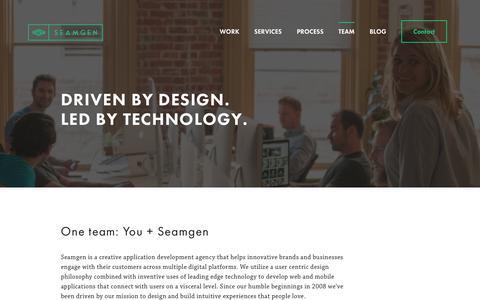 Screenshot of Team Page seamgen.com - Meet Our San Diego Team | Seamgen - captured July 16, 2018