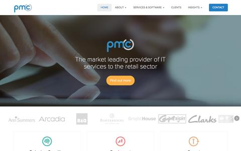 Screenshot of Home Page pmcretail.com - Home   PMC Retail - captured Oct. 1, 2014