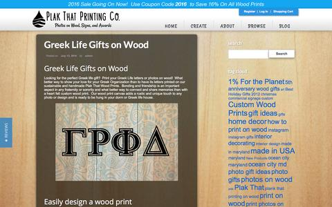 Screenshot of Blog plakthat.com - Blog - Plak That: Custom Wood Prints and Photos on Wood - captured July 13, 2016
