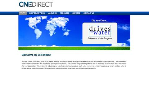 Screenshot of Home Page cnedirect.com - Reverse Logistics -  Global Supply Chain Solutions - captured Oct. 1, 2014