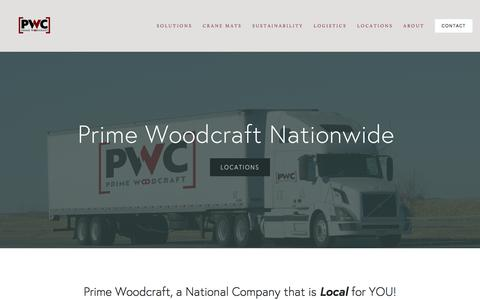 Screenshot of Locations Page primewoodcraft.com - Locations — Prime Woodcraft - captured Jan. 31, 2016