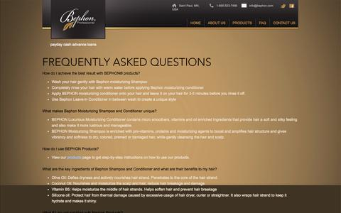 Screenshot of FAQ Page bephon.com - FAQ | BephonBephon - captured Oct. 4, 2014