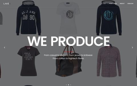 Screenshot of lake5.eu - Lake5 | brand and design agency - captured Oct. 1, 2016