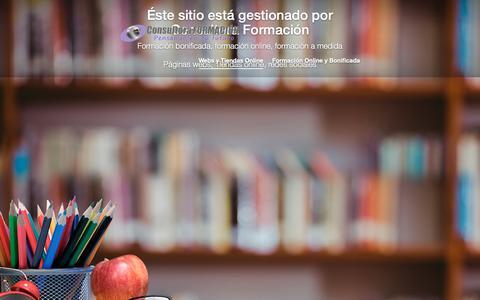 Screenshot of Home Page tuspacio.es - Consultora formación   Actualizando contenidos - captured Oct. 24, 2018