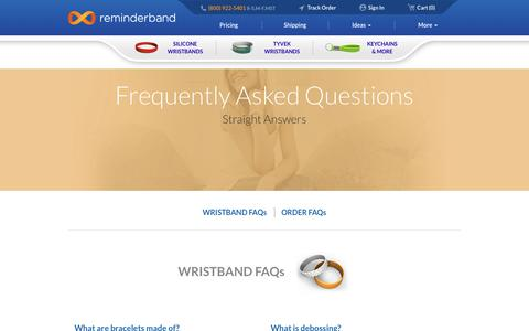 Screenshot of FAQ Page reminderband.com - Frequently Asked Questions at Reminderband - captured March 25, 2017