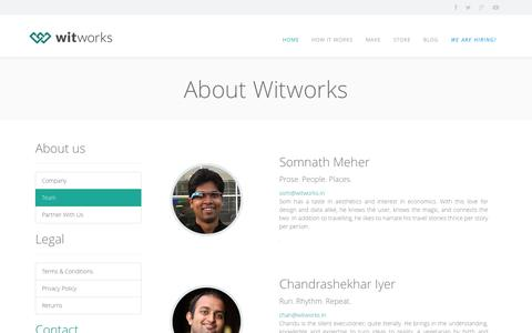 Screenshot of Privacy Page Team Page witworks.in - Witworks - captured Nov. 2, 2014