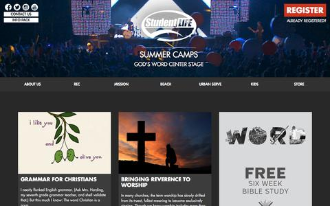 Student Life Christian Summer Camps
