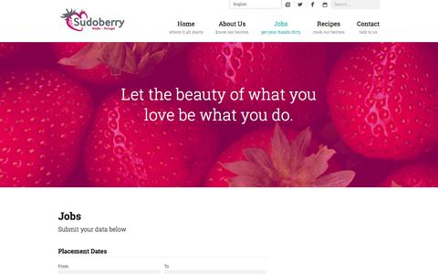 Screenshot of Jobs Page sudoberry.com - Jobs - Sudoberry - captured Oct. 6, 2014